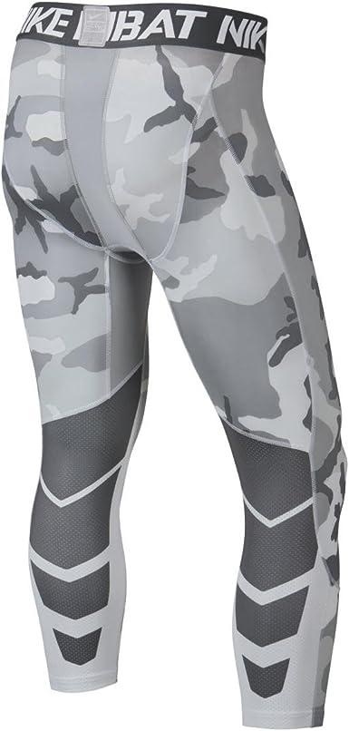 luz de sol Portero Meloso  Amazon.com: Nike Pro Combat Hypercool Woodland de compresión 3/4 mallas de  entrenamiento: Clothing