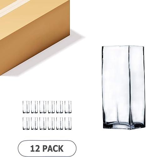 WGV Square Block Glass Vase Bulk Length 3
