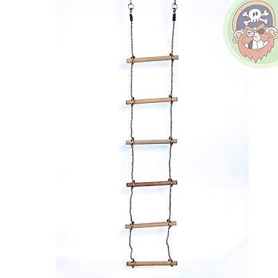 Échelle en corde pour enfants avec 6 marches en bois - Jeu d'escalade - de Gartenpirat®