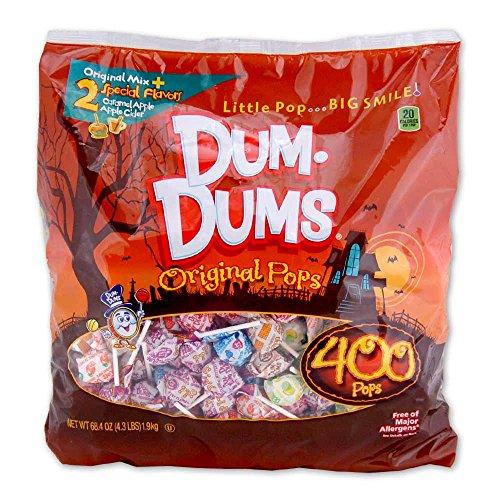 DUMDUMS Lollipops Halloween Pack, 400 Count Bag]()