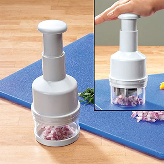 Manual Onion Chopper Garlic Crusher Pressing Food Cutter Vegetable Slicer P BRPF