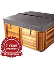 The Cover Guy Deluxe Hot Tub Cover - Shipping Included - Custom Made to Order - 5 Inch Thickness - Heavy Duty - Built for All Climates - Made in Canada - 7 Yr Warranty