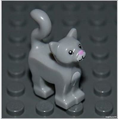 Lego Harry Potter x1 Light Gray Cat City Kitten Animal Girl Boy Minifigure NEW: Toys & Games
