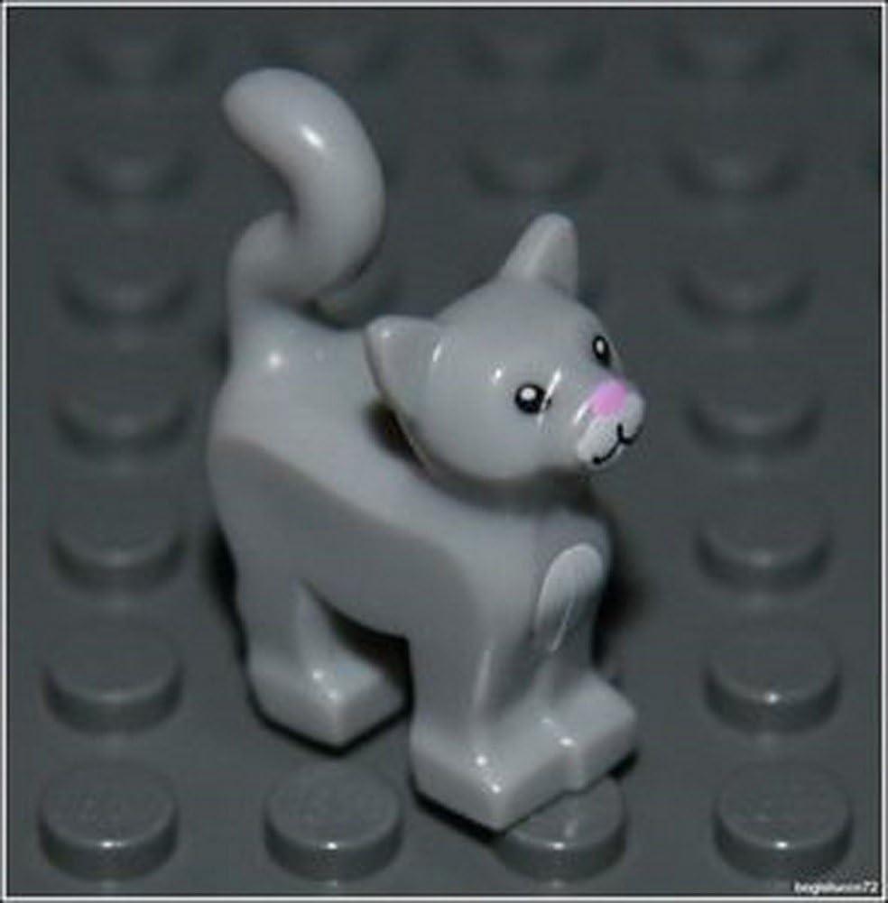 Lego Harry Potter x1 Light Gray Cat City Kitten Animal Girl Boy Minifigure NEW