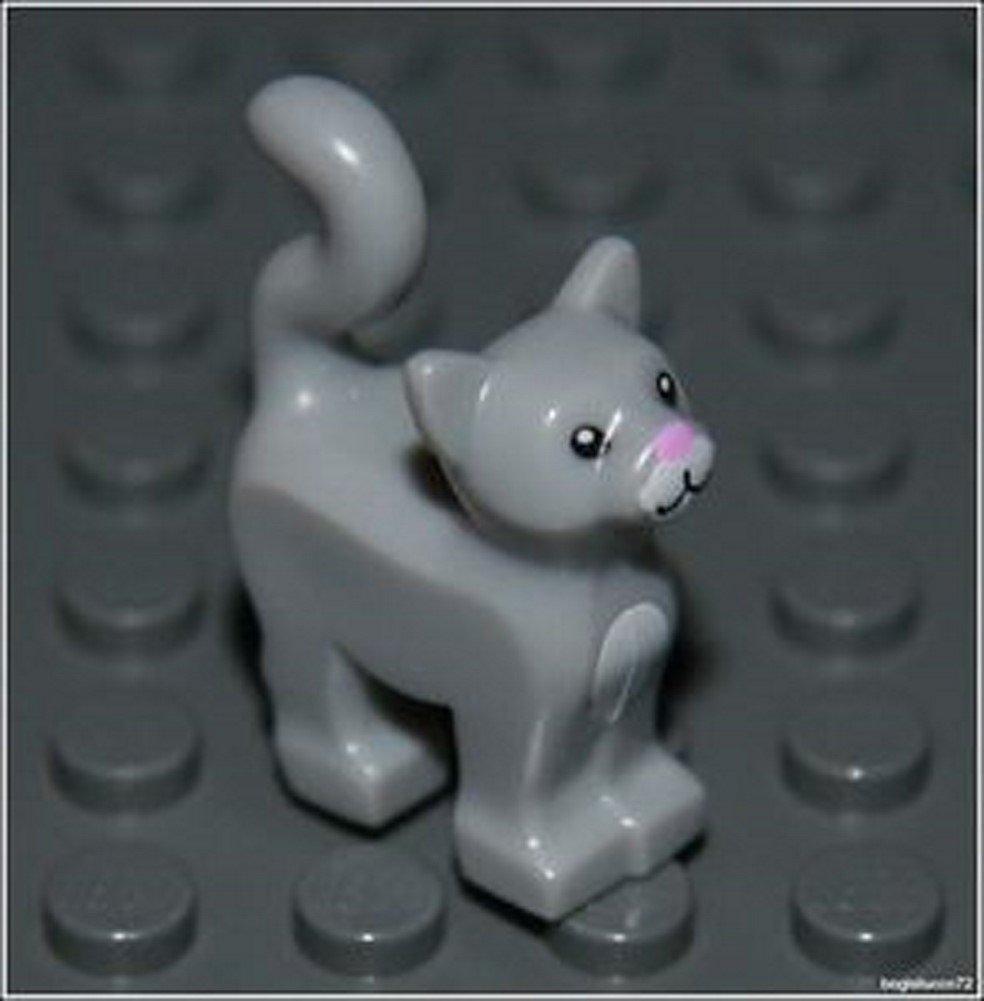 Lego Harry Potter x1 Light Gray Cat City Kitten Animal Girl Boy Minifigure NEW unknown