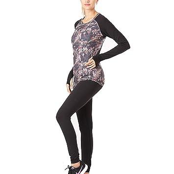 Conjunto de Ropa de Yoga, Mujer, Ropa Interior térmica ...