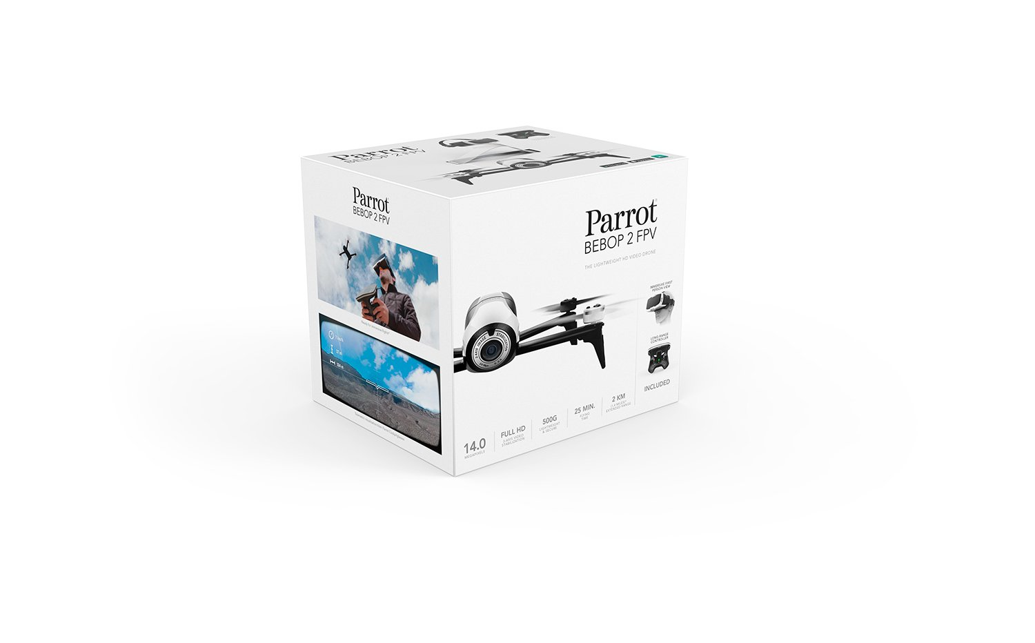 Amazon.com: Parrot Bebop 2 FPV - Up to 25 Minutes of Flight time, FPV Goggles, Compact Drone: Camera & Photo