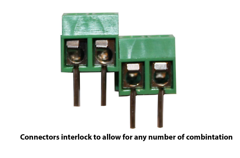 Screw Terminal Block Kit 5mm Pitch 2 3 4 Pole 40 pcs