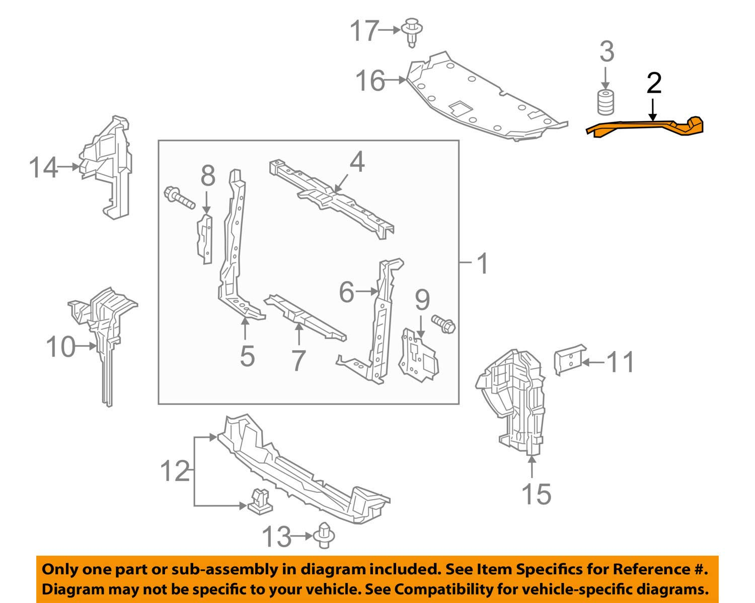 Toyota Lexus OEM 15-16 NX200t Radiator Core-Side Support Left 5320378010 by Toyota (Image #1)