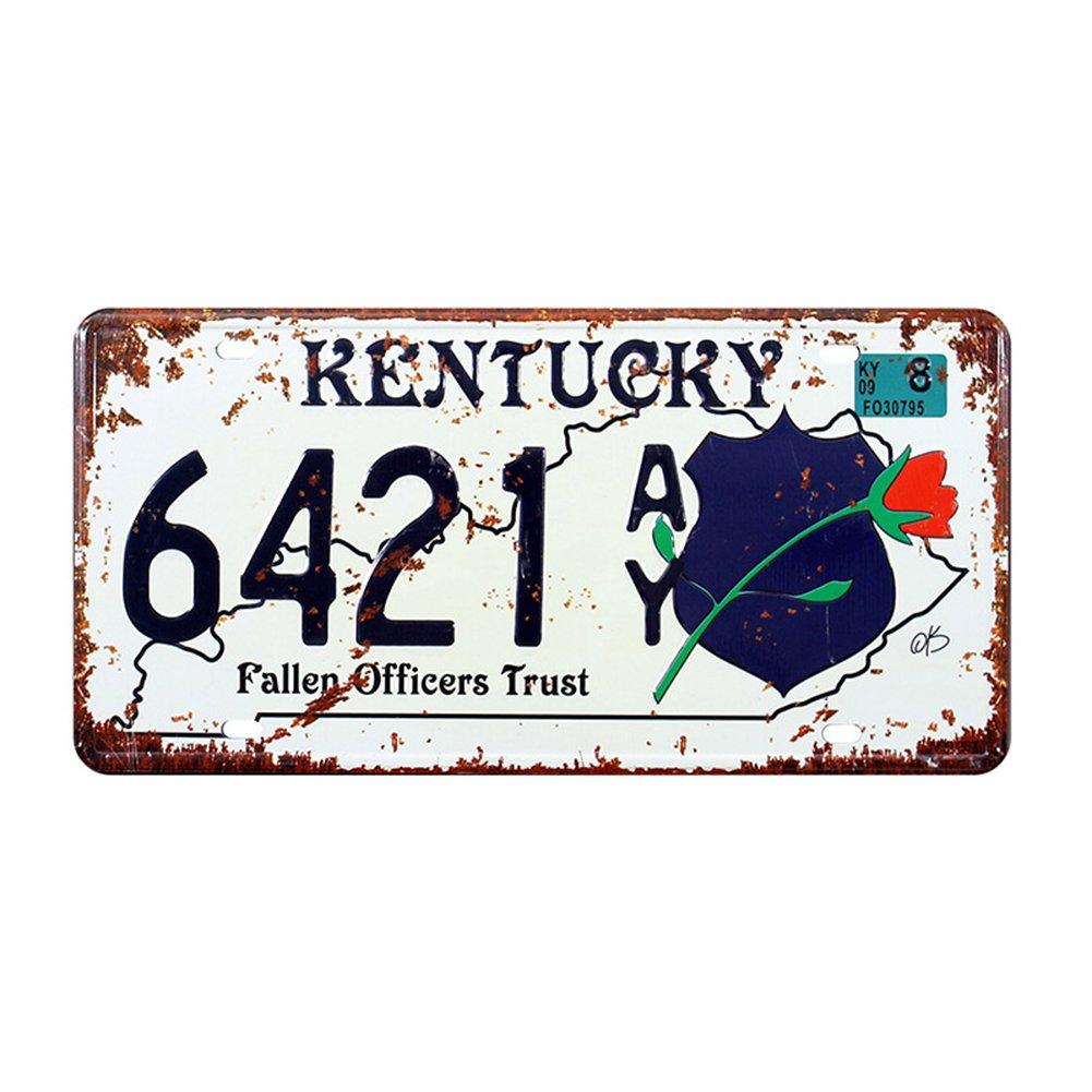 Eureya Kentucky 6421 automatique de voiture de plaque d'immatriculation Tag Home/CAFE Bar/Pub/restaurant/salon Dé coration murale vintage plaque 6'x12'