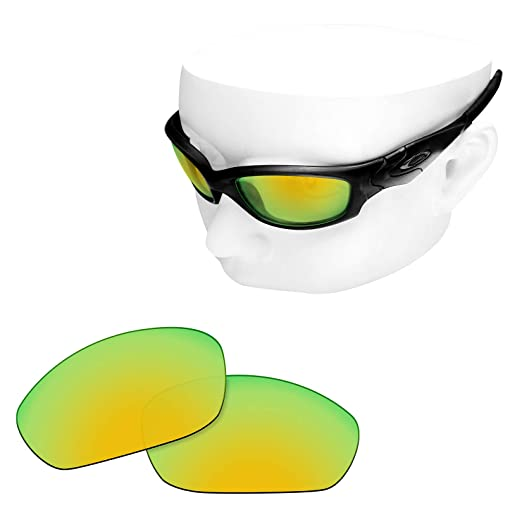 8b33b384442 Image Unavailable. Image not available for. Color  OOWLIT Replacement  Lenses Compatible with Oakley Straight Jacket 2007 Sunglass 24K Non- polarized