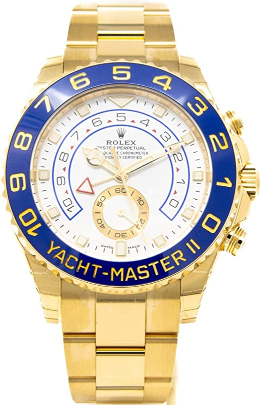 Amazon.com: Men's 18K Gold Rolex Yachtmaster II Model # 116688 ...