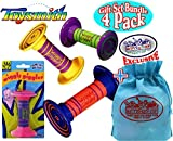 Wiggly Giggler Rattles Gift Set Party Bundle with Exclusive ''Matty's Toy Stop'' Storage Bag - 4 Pack (Assorted)