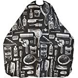 TRIXES Adult Patterned Black Salon Hairdressing Barbers Cape Body Gown Perfect for Cutting, Colouring, Highlights, etc by TRIXES