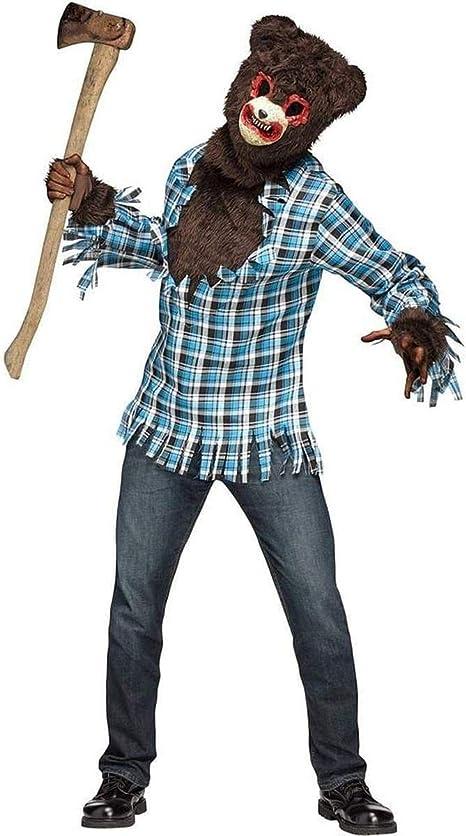 Disfraz de oso psicópata para adulto: Amazon.es: Juguetes y juegos