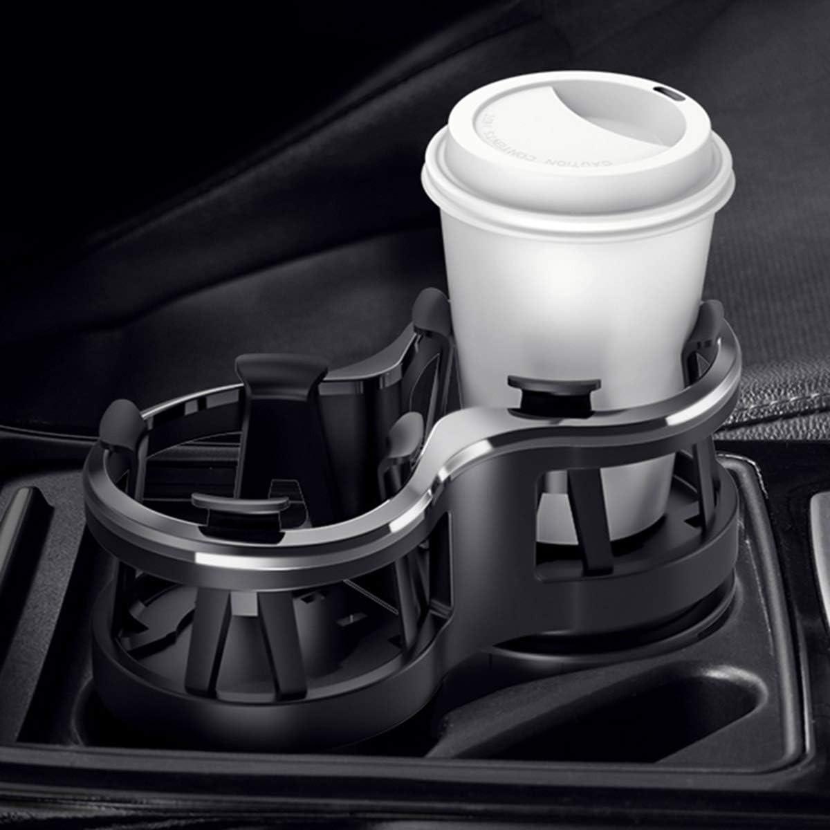 Car Drink Holder Expander Adapter with Adjustable Base,Unique Adjustable Movable Bracket Design SANON Multifunctional Universal Car Cup Holder