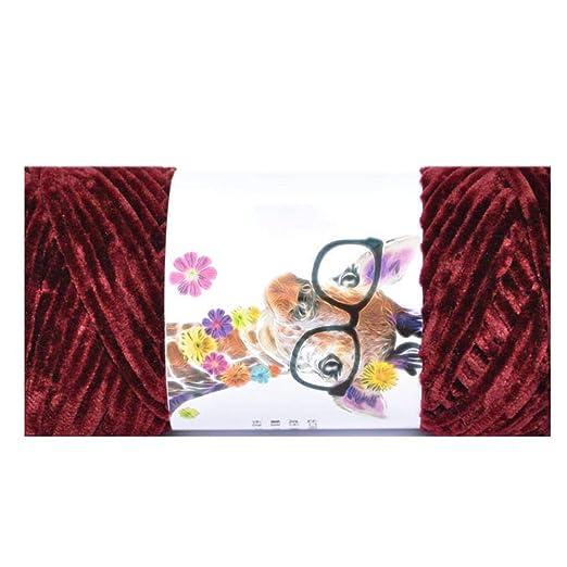 Biback - Ovillo de lana de chenilla, multicolor, de ...