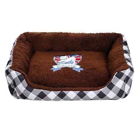 Yuncai Cuadrado Color del Caramelo Mascotas Perros Nido ...