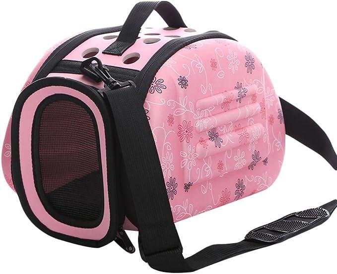 JEELINBORE Portador Bolsa de Transporte Transportín Plegable para Mascotas Capazos de Perros Gatos (Rosa, S): Amazon.es: Productos para mascotas