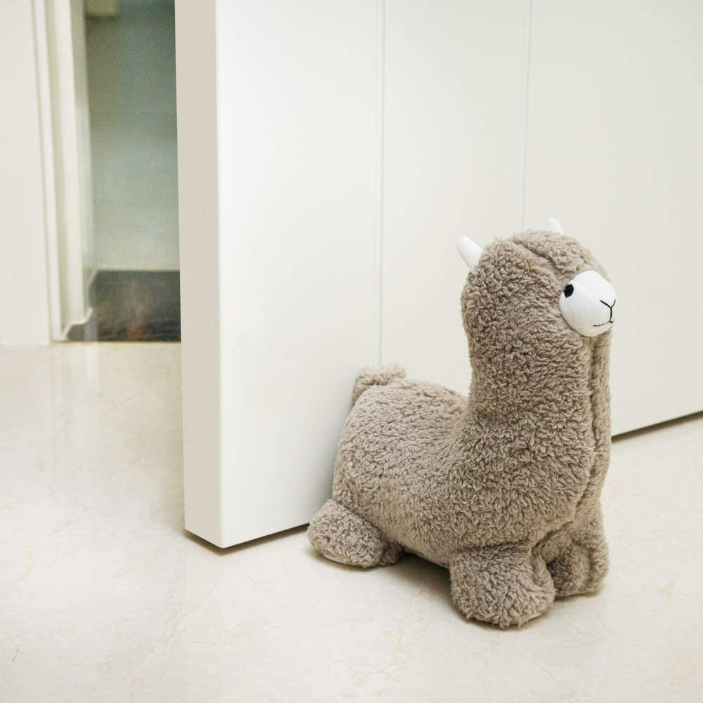Decorpro Cute Decorative Door Stopper for Home and Office Door Stopper, Alpaca Boy Weighted Interior Fabric Design Door Stopper