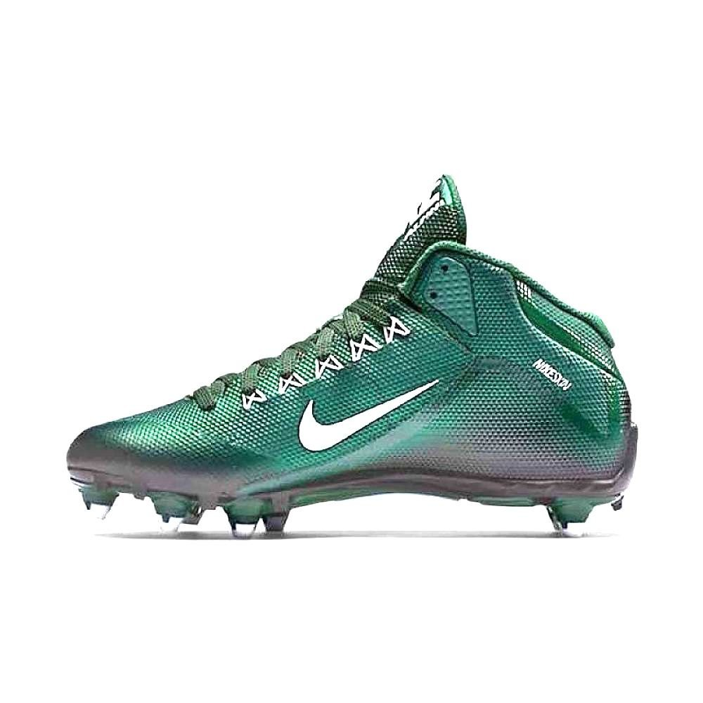 NIKE Alpha PRO 2 34 D Mens Detachable Football Cleats DEEP Forest Green White Black (9.5, DEEP Forest Green White Black)
