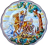 Decorative Plate from Spain - Don Quixote & Sancho Panza (Spear Up)