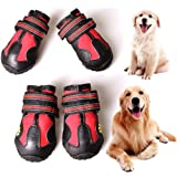 CovertSafe Dog Boots for Dogs Non-Slip, Waterproof Dog Booties for Outdoor, Dog Shoes for Medium to Large Dogs 4Pcs with Rugg