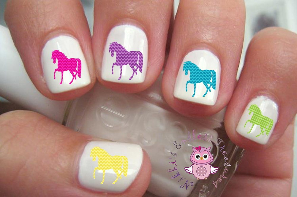 Amazon.com : 40 Horse Nail Art Decals : Beauty