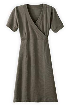 06c1cbbf09c Fair Indigo Fair Trade Organic Faux Wrap Dress at Amazon Women s ...