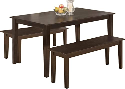 Modern 45 Inch Dining Table Set Solid Wood Kitchen Table