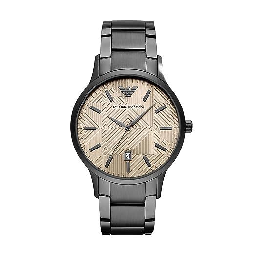 Emporio Armani Reloj Analogico para Hombre de Cuarzo con Correa en Acero Inoxidable AR11120: Amazon.es: Relojes