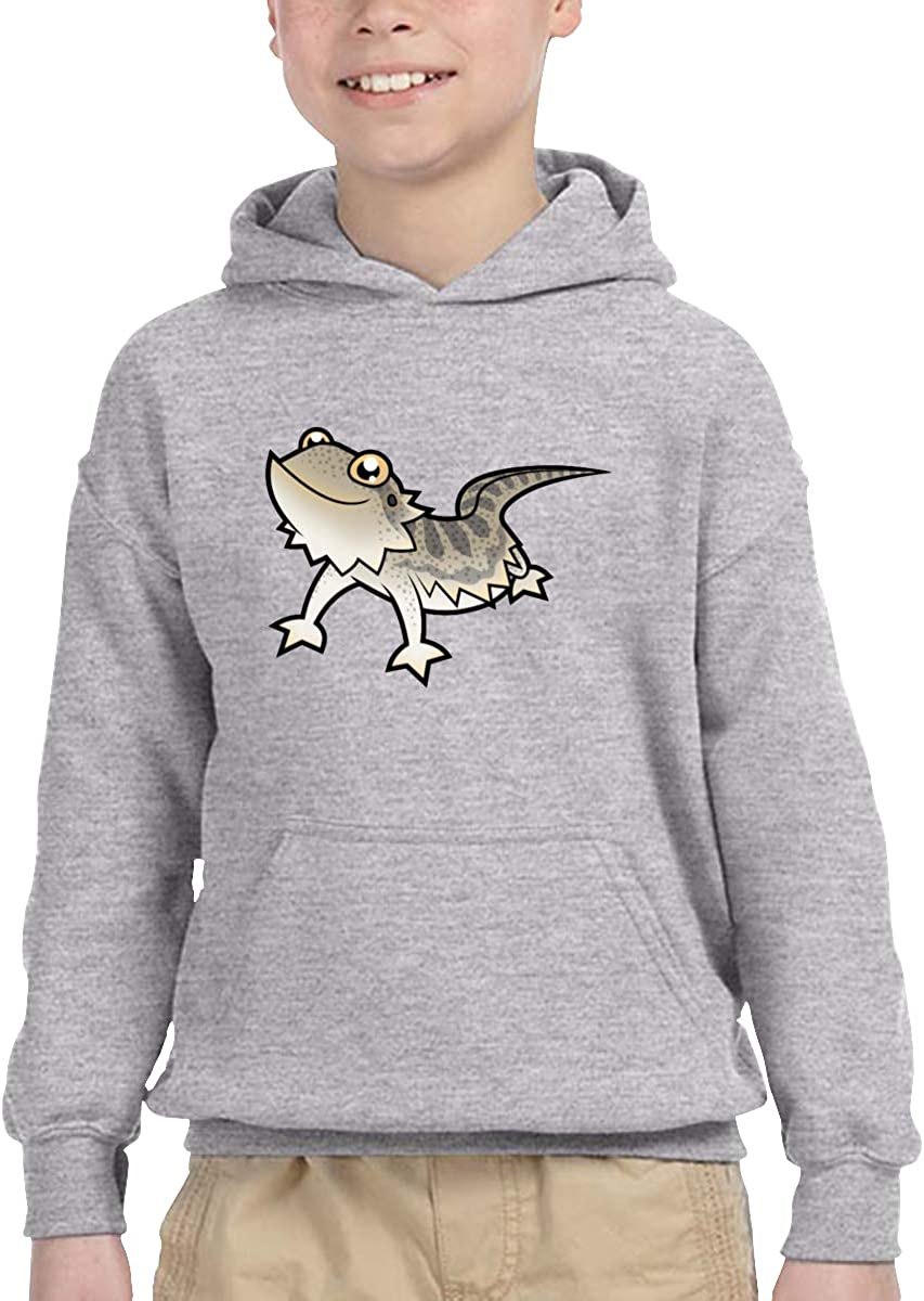 ShenigonCartoon Bearded Dragon Pullover Hoodie Sweatshirt Teens Hooded for Boys Girls