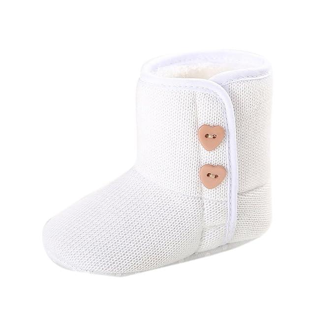 Yahoo Zapatos para niños Botines de bebé Botines de algodón Zapatos de otoño e Invierno Botones