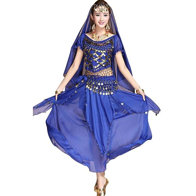 TianBin Traje Profesional para Danza del Vientre Mujer Ropa ...