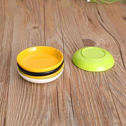 Baost 1Pc Durable Melamine Small Round Sushi Sauce Spices Dipping Dish Bowl Gourmet Snacks Serving Dish Soy Sauce Dishes Dinnerware for Appetizer, BBQ and Party Dinner Sauce Green