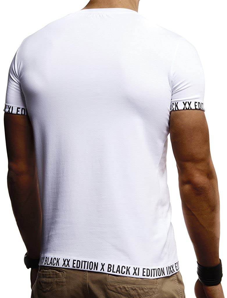 ba52855b93f8 LEIF NELSON Herren trendiges T-Shirt Hoodie Sweatshirt Rundhals Crew Neck  Crew Neck Ausschnitt Kurzarm Longsleeve modernes Basic Shirt Vintage ...