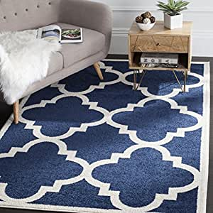 Amazon Safavieh Amherst Collection AMT423P Navy and