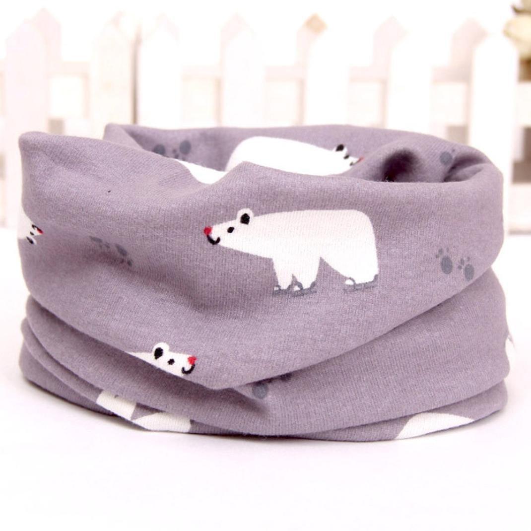 Dragon868 ❤️/• /•❤️Schal Baby Winter Kids Jungen M/ädchen Kragen Baumwolle O Ring Neck Warm Soft Schals By