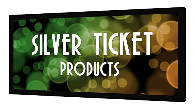 STR-235125 Silver Ticket 2.35:1 4K Ultra HD Ready Cinema Format (6 Piece Fixed Frame) Projector Screen (2.35:1, 125