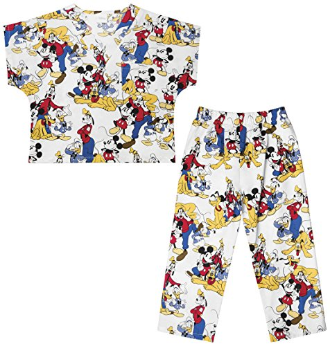 Professional Health Club (Tooniforms by Cherokee Kid's Unisex Mickey Mouse Print Scrub Set Large Mickey Mouse Club)