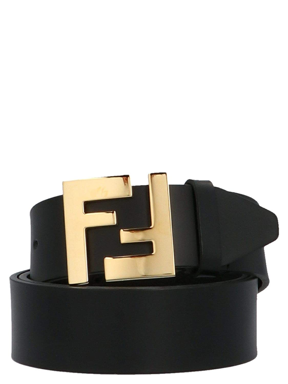 91493e0fd3 Fendi Men's 7C0403A4KLF0KUR Black Leather Belt at Amazon Men's ...