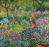 The High Quality Polyster Canvas Of Oil Painting 'The Iris Garden At Giverny, 1899-1900 By Claude Monet' ,size: 8x8 Inch / 20x21 Cm ,this Replica Art DecorativeCanvas Prints Is Fit For Bathroom Decor And Home Artwork And Gifts