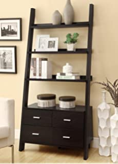 coaster 800319 home furnishings ladder bookcase cappuccino amazoncom coaster shape home office