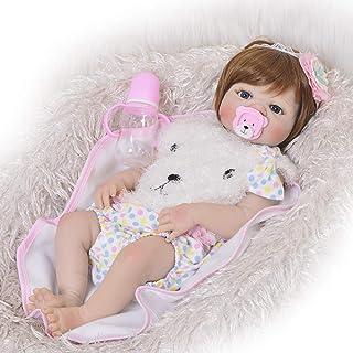 AFYH Bambola Reborn, Simulazione Baby Doll - 55cm Altamente Realistico - Simulated Weighted Baby - Toy Doll - Collezione preziosa.