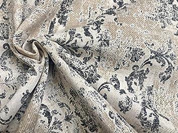 Amazon Com Lushfabric Antique Vintage Damask Print Fabric Baroque