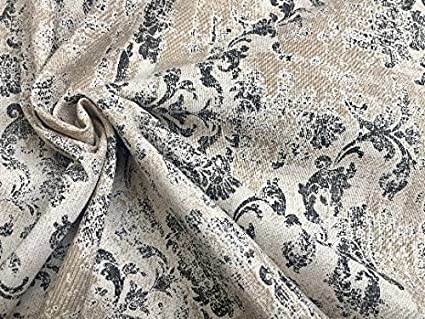 Childrens Car Map Theme Pattern Printed Canvas Upholstery Fabric Silver Colour