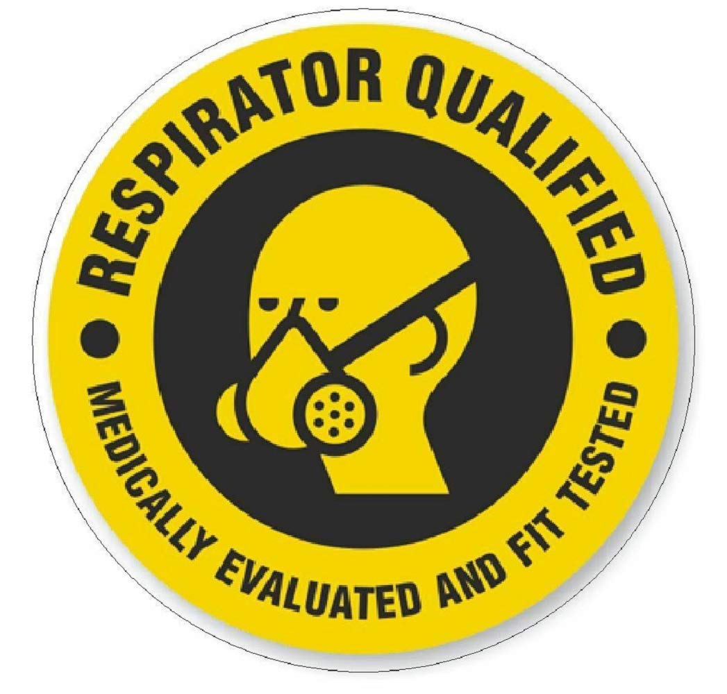 manda_ol 100 Pack 2'' inches Respirator Qualified Hard Hat Decal Hardhat Sticker Helmet Safety