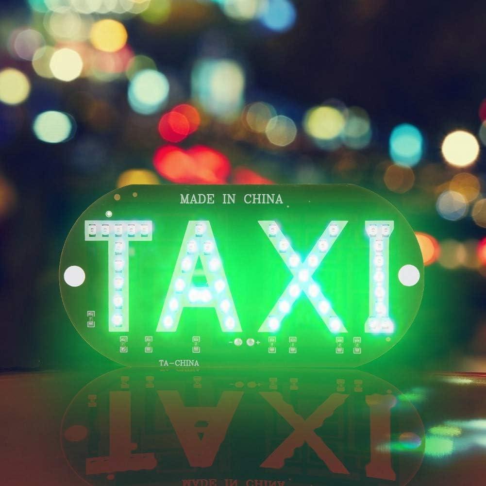 Aramox Taxi LED Light DC 12V Taxi Light Up Sign Decor D/écor Pare-Brise Cabine Indicateur De La Lampe Signer Pare-Brise LED Light Logo