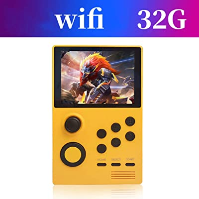 EXUVIATE Portable HD Handheld Game Console PSP Open Source Handheld Arcade with WiFi Portable for Kids, Best Birthday Gift,Yellow: Sports & Outdoors