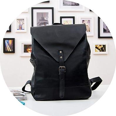 Women fashion backpack male travel backpack mochilas school mens leather business bag,black: Shoes